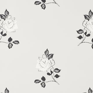 Sample - Schumacher Adele Wallpaper in Grisaille For Sale