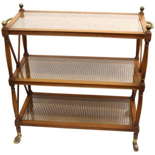 Hollywood Regency Neoclassical Style Bar Cart