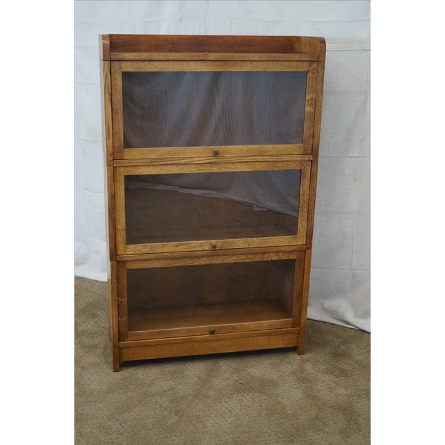Stickley Mission Oak Stacking Barristers Bookcase - Image 2 of 10