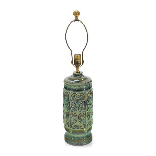 Early 20th Century Art Pottery Table Lamp For Sale - Image 5 of 5
