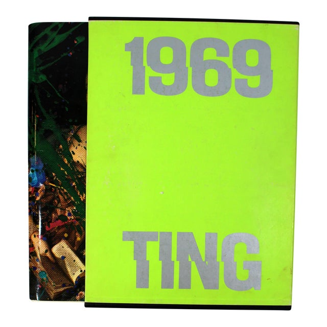 1969 Walasse Ting Mid-Century Modern Poetry & Art Book Signed For Sale