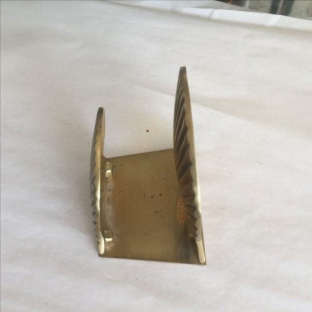 Vintage Brass Shell Letter Holder - Image 3 of 4