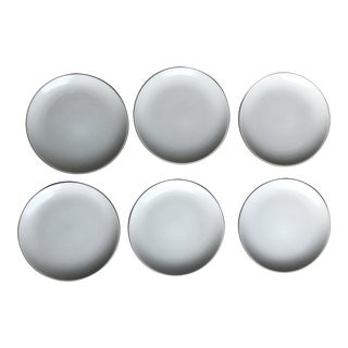 Heath Coupe Line White Dinner Plates - Set of 6 For Sale