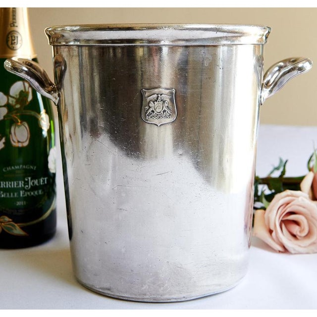 Vintage Ambassador Hotel, Los Angeles Silver Plate Champagne Bucket For Sale - Image 9 of 9