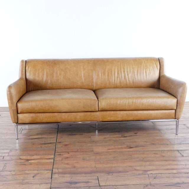 Collections Of Cb2 Alfred Leather Sofa Onthecornerstone