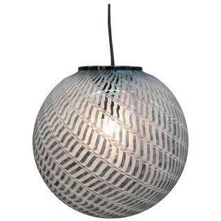 1970s Murano Italy Glass Globe Pendant Light For Sale
