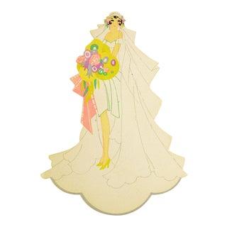 1930's Art Deco Place Card Bridal Wedding Theme For Sale