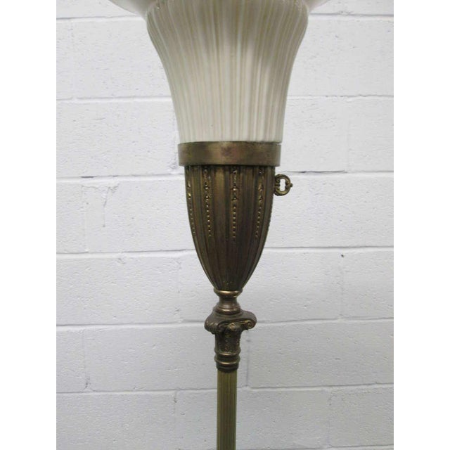 Neoclassical Style Bronze Floor Lamp - Image 3 of 4
