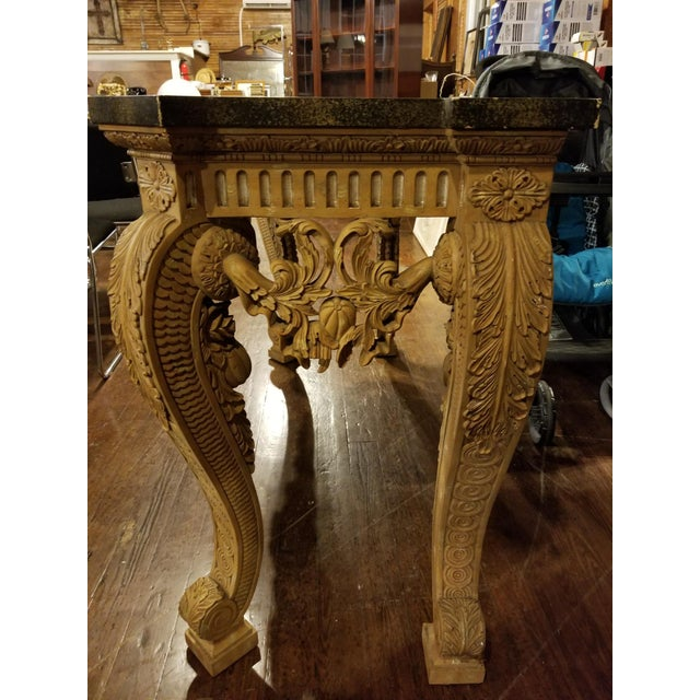 Italian Maitland-Smith Vintage Console Table For Sale - Image 3 of 11