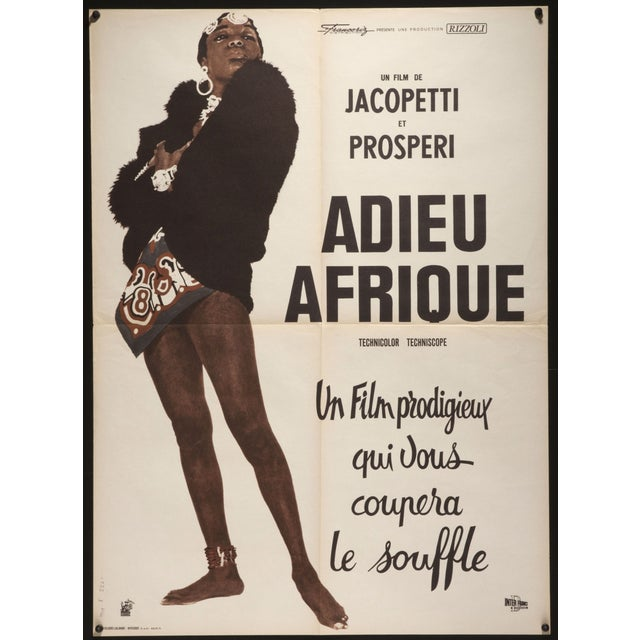 "This is an original release French poster for the 1966 Italian documentary ""Farewell Africa"" or ""Adieu Afrique"", directed..."