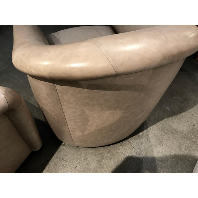 A. Rudin Leather Swivel Chairs - a Pair For Sale - Image 12 of 13
