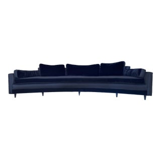 1960s Harvey Probber Crescent Curved Sofa For Sale