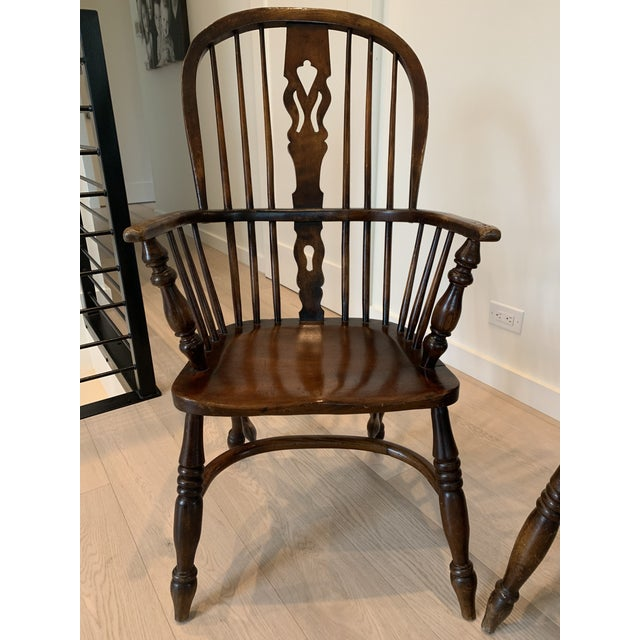 Late 19th Century Windsor Chairs - A Pair For Sale In San Francisco - Image 6 of 9