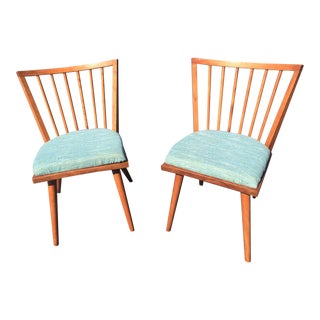 Conant Ball Mid-Century Leslie Diamond Maple Dining Chairs - a Pair