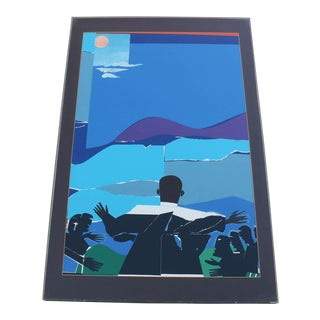 """1968 Vintage Romare Bearden """"Mountain Top - Martin Luther King Jr"""" Print For Sale"""