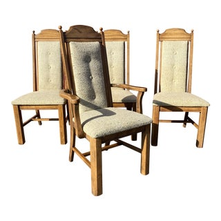 1990s Drexel Heritage Walnut Dining Chairs - Set of 4 For Sale