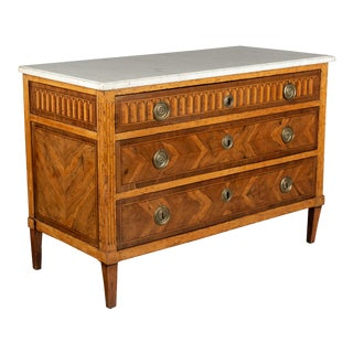 19th Century Louis XVI Style Marquetry Commode For Sale