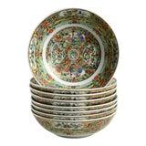 Image of 1970s Hong Horizons Canton Rose Individual Bowl - Set of 8 For Sale