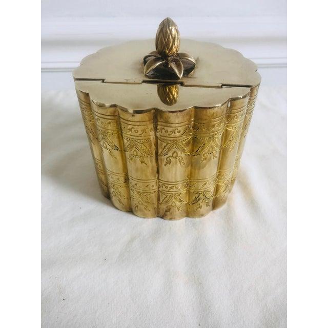 1970s 1970s Vintage Lidded Brass Trinket Box For Sale - Image 5 of 8