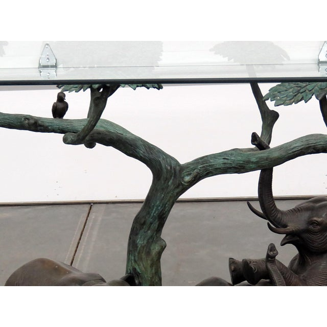 Late 20th Century Late 20th Century Sculptural Glass Top Center Table For Sale - Image 5 of 12