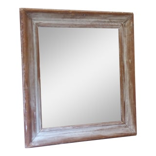 19th Century Weathered Pine Mirror For Sale