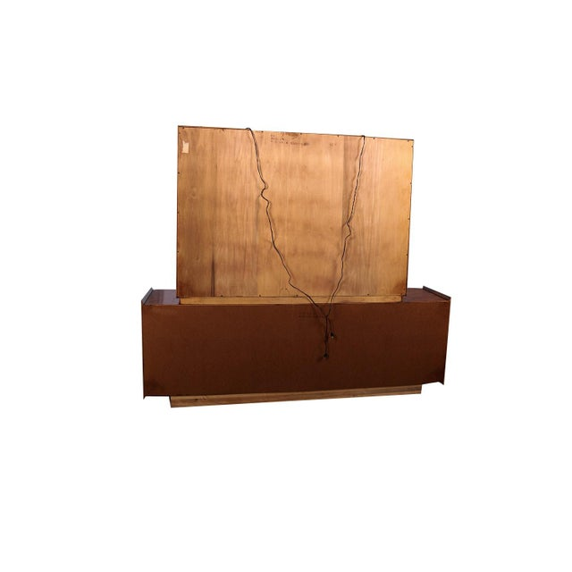 Wood Mid Century Lane First Edition Walnut Buffet Credenza Hutch For Sale - Image 7 of 13