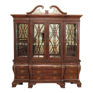 Cherry Breakfront China Cabinet