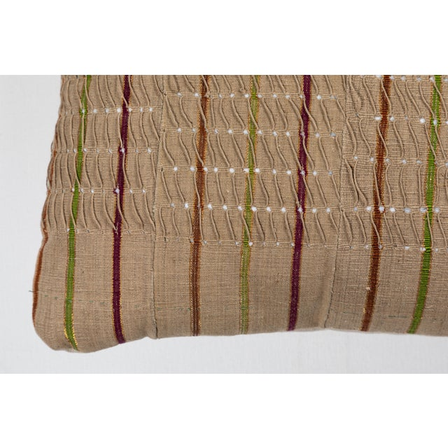 Vintage African Ashante Textile Pillow For Sale In Los Angeles - Image 6 of 8