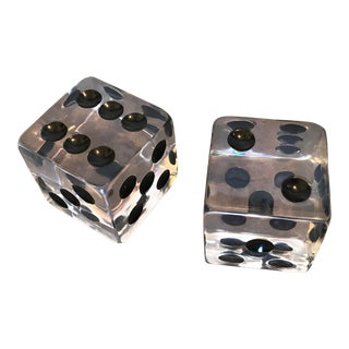 Large Acrylic Decorative Dice Sculptures For Sale