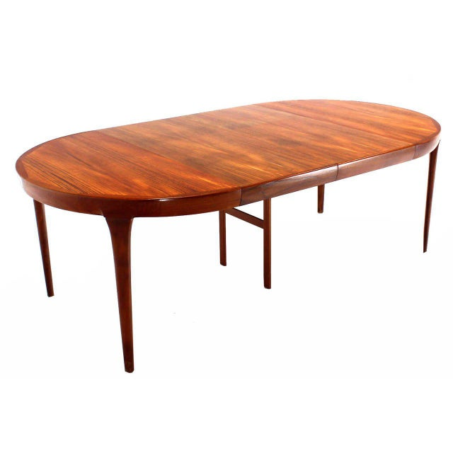 Teak Kitchen Table Superior danish mid century modern round teak dining table with two danish mid century modern round teak dining table with two leaves image 4 of workwithnaturefo