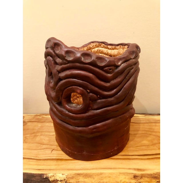 Final Price! 1970s Vintage Brutalist Style Coiled Studio Pottery Vessel For Sale - Image 9 of 9