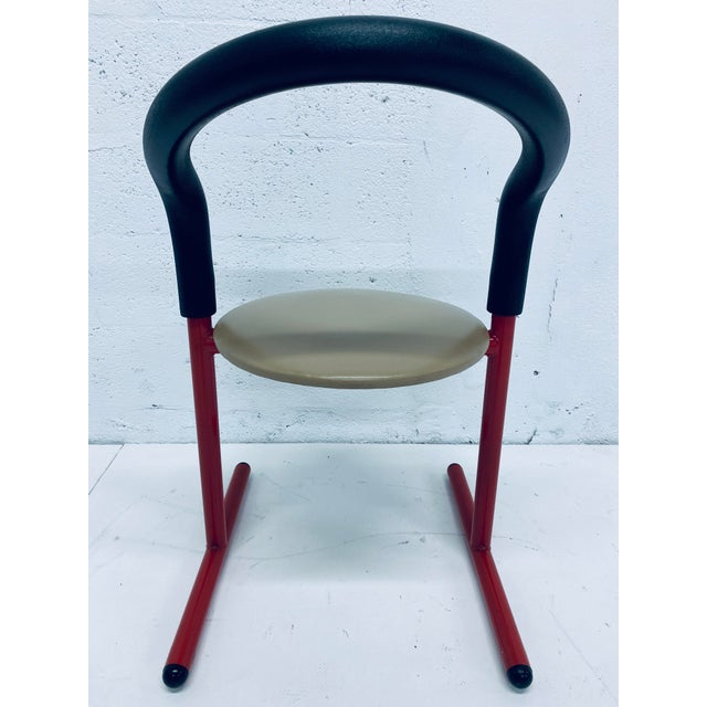 Postmodern Amisco Chair or Stool With Foam Back For Sale - Image 4 of 11