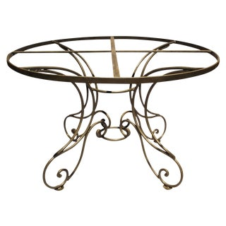 Wrought Steel Dining Table Base For Sale