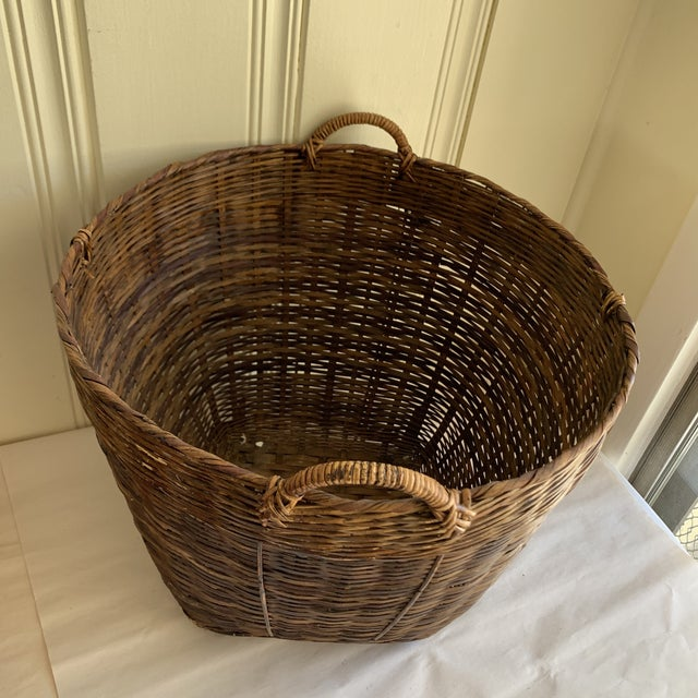 Earthy Wood Rustic Decor & Storage Basket For Sale - Image 4 of 9