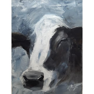 ''Cow'' Oil Painting on Canvas For Sale