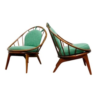 "Ib. Kofod Larsen ""Hoop"" Chairs - a Pair For Sale"