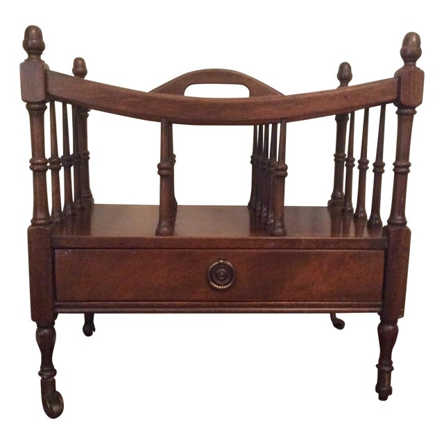 Regency Style Mahogany Canterbury Magazine Rack For Sale