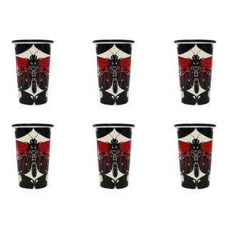 The Roma Handmade Tumblers Set of 6 For Sale