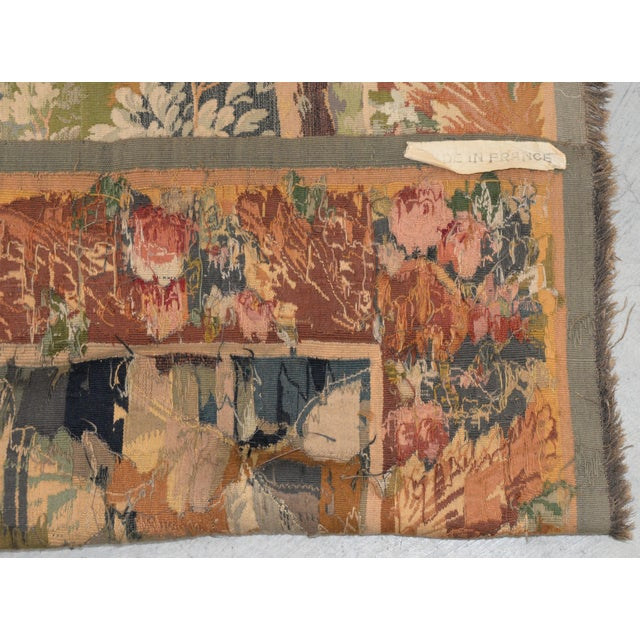 Fine Antique European Tapestry Depicting a Country Scene With Dogs For Sale - Image 11 of 13