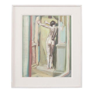 """""""Figure in Reflection"""" Nude Painting For Sale"""