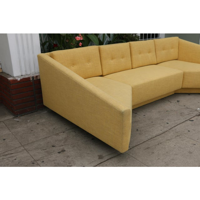 1970s Yellow Sectional Sofa For Sale - Image 5 of 11