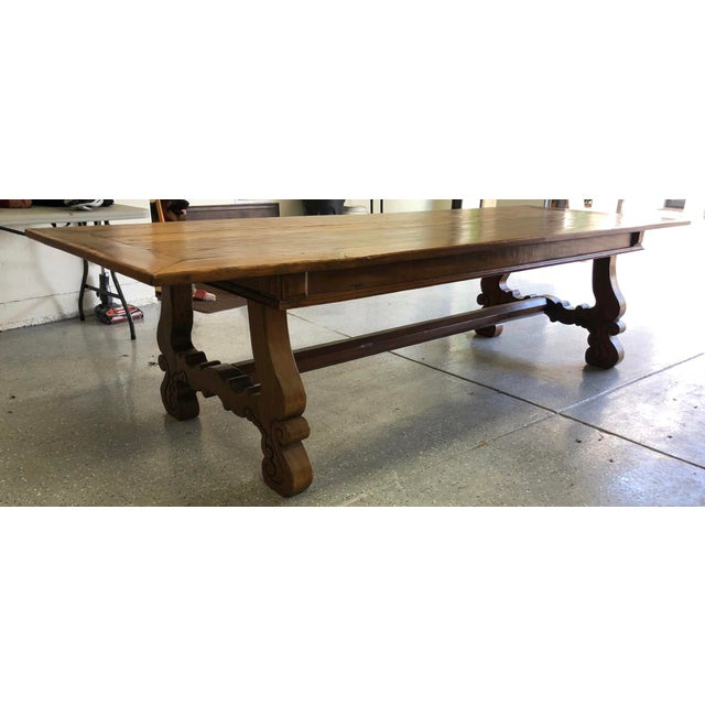 Spanish Designer Reclaimed Wood XL Dining Table For Sale - Image 13 of 13