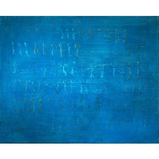 Blue Abstract by Xavier Puigmarti For Sale