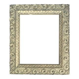 Vintage Gilded Plaster Wood Frame For Sale