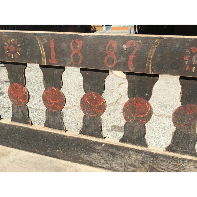 Antique Rustic European Bench - Image 3 of 4