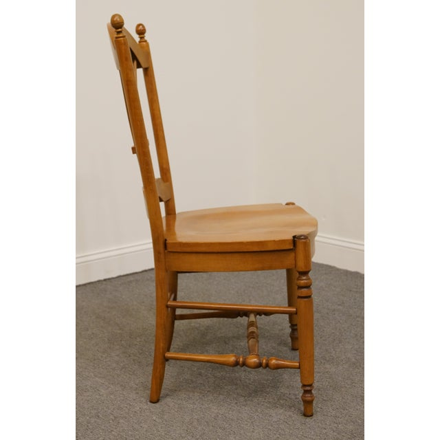 Wood Late 20th Century Vintage Ethan Allen Casual Dining Wheat Back Dining Side Chair For Sale - Image 7 of 10