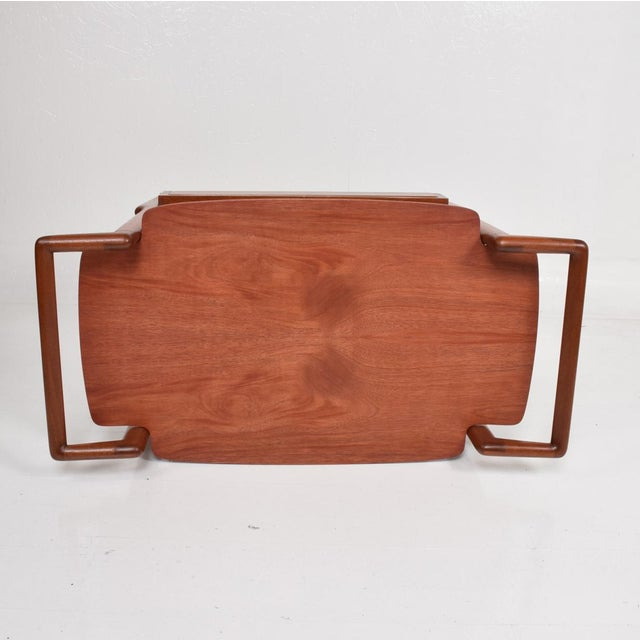 Mid-Century Mexican Modern Mahogany Service Cart For Sale - Image 9 of 10