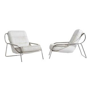 Marco Zanuso Maggiolina Leather Lounge Chairs for Zanotta, Italy 1970 For Sale