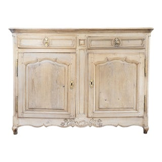 18th Century French Oak Buffet Chest With Bleached Finish For Sale