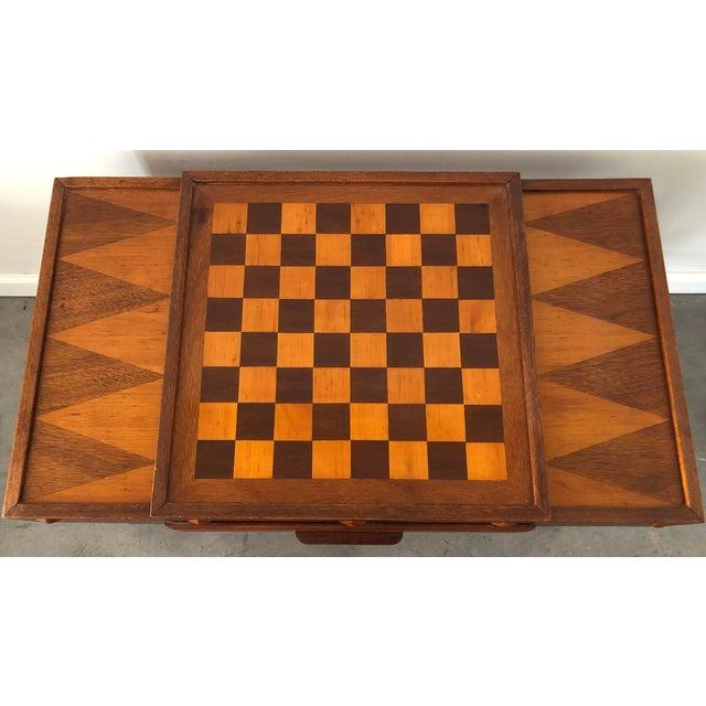 1960s Mid Century Danish Modern Teak Game Table For Sale - Image 5 of 9
